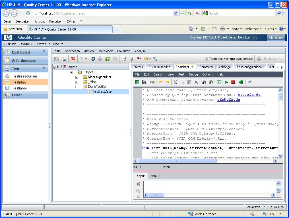 VAPI-XP-TEST test case             in HP ALM