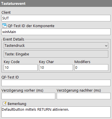 Tastaturevent Attribute