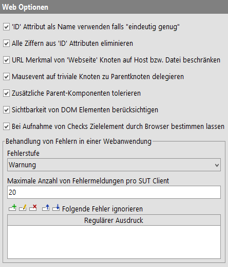 Web Optionen