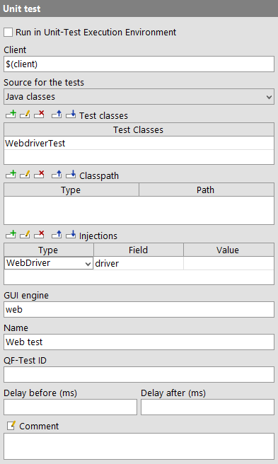 Example Unit Test node with Injections