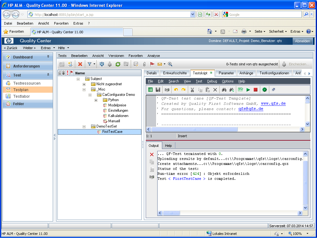 VAPI-XP-TEST script             debug run