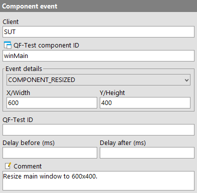 Component event attributes