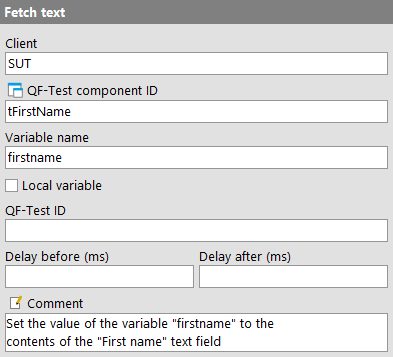 Fetch text attributes