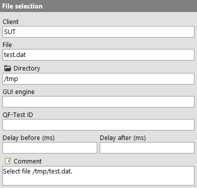 File selection attributes