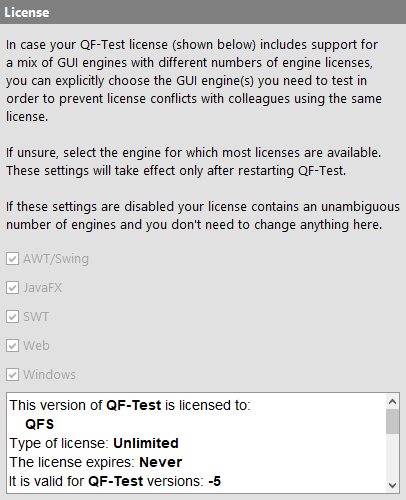 License options