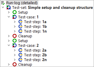 Test execution with simple Setup sequence and Cleanup sequence