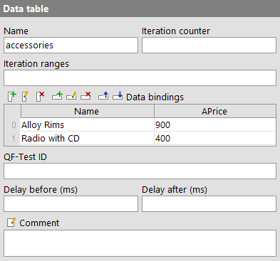 Second data table example