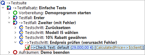 Test run stopped by error