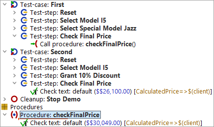Procedure with hardcoded value