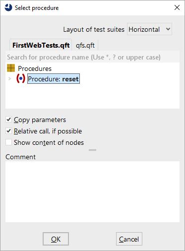 Select a procedure